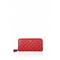 Red Studded Heart Joss Purse by Anya Hindmarch