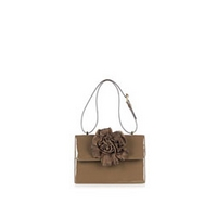 Brown Patent Corsage Mini Shoulder Bag by Moschino Cheap & C