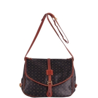 Pollini Vintage Double Sided Leather Satchel