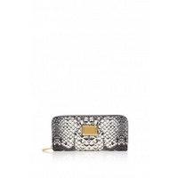 Pale Khaki Slim Zip Supersonic Snake Print Purse by Marc By