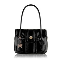 Black patent Antrim medium tote bag