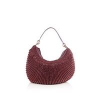 Chilli Red Stephanie Woven Leather Slouch Bag by Diane Von Furstenberg