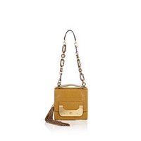 Saffron Harper Bonbon Ostrich Chain Handle Bag by DVF